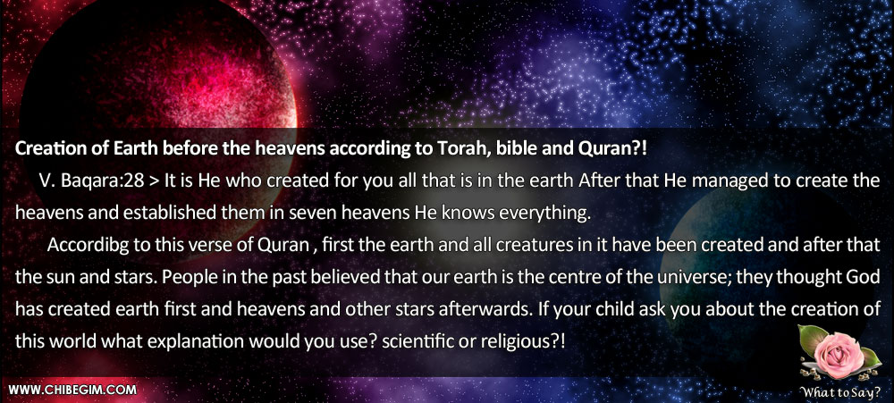 the creation of the world according to the bible